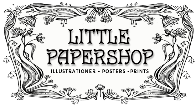 Little Papershop Logo - Illustrationer - Posters - Prints